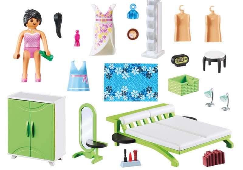 Contenido real de Playmobil® 9271 Dormitorio