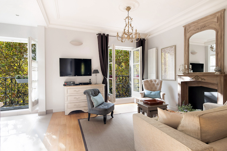 Living room at Champs Elysee apartment
