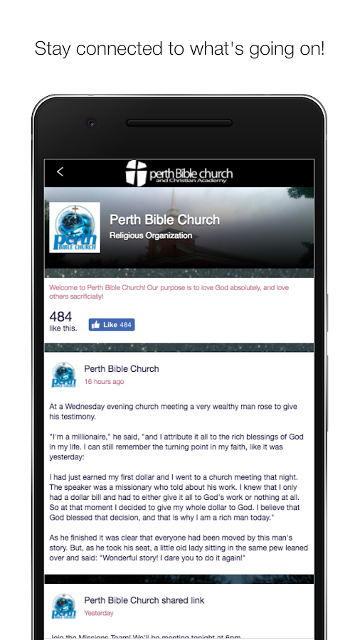 Perth Bible Church- screenshot