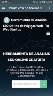 Online SEO Analysis Tool - Tu Web Startup - náhled