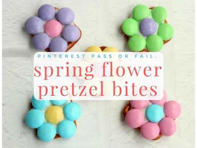 Pinterest Pass or Fail: Spring Flower Pretzel Bites