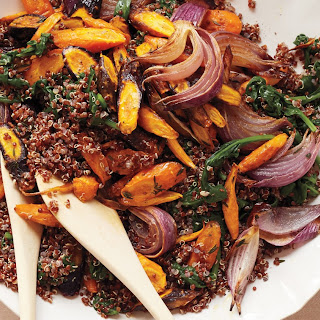 Roasted Carrots and Red Quinoa