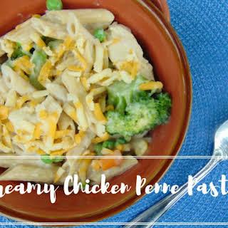 Creamy Chicken Veggie Penne.
