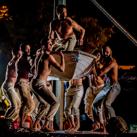 Bangarra Performance in the park by Jd Purdy - People Musicians & Entertainers ( performance, stage, torres strait, night, dance, boat )