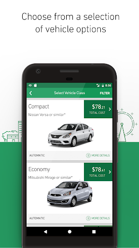 Enterprise Rent-A-Car Screenshot
