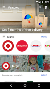Google Express Screenshot 1