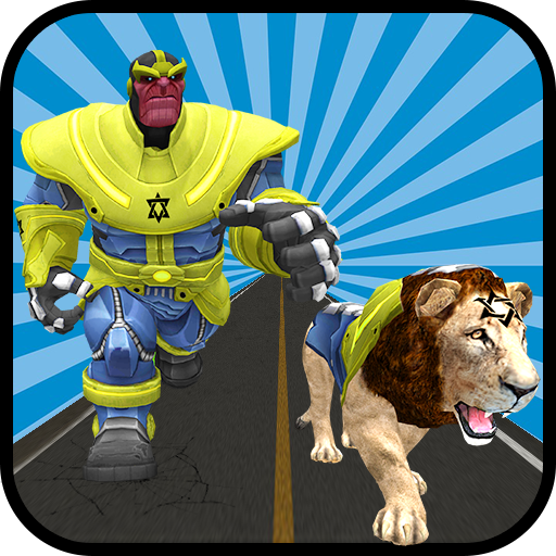 Multi Infinity Lion Hero Vs Futuristic Robots