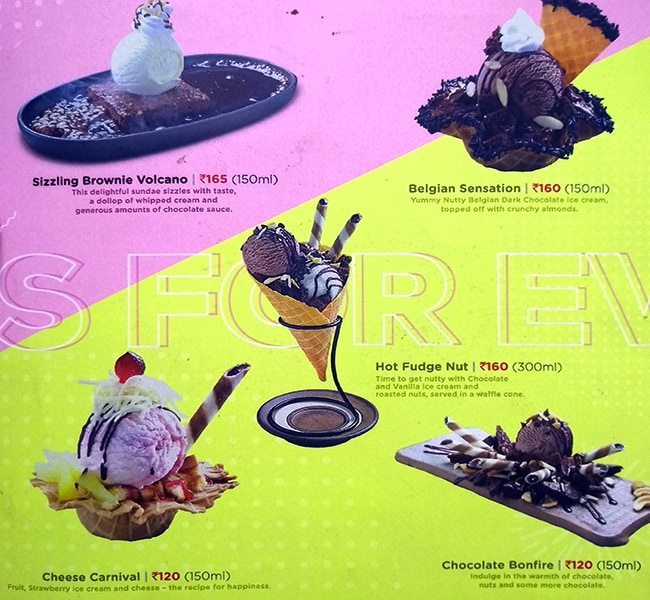 Havmor Ice Cream menu 4