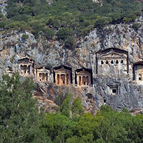 Kaunos or Caunos kings tomb by Ciddi Biri - Buildings & Architecture Public & Historical ( tomb, antic city, dalyan, likya, king, turkiye )