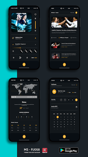 Screenshot for MS - PJ058 Theme for KLWP in United States Play Store