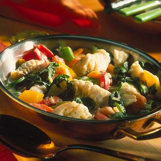 Gemüse-Fisch-Pfanne