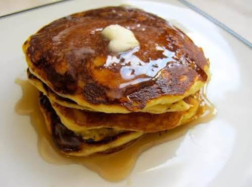 """Melt in Your Mouth Orange-Yogurt Pancakes """"These pancakes are so simple and..."""