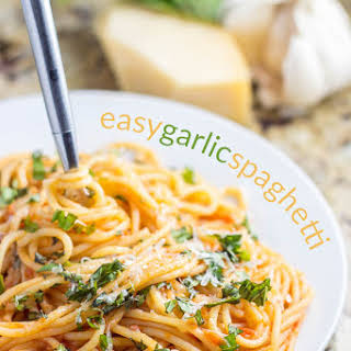 Easy Garlic Spaghetti.