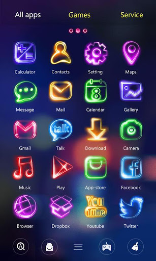 Tonight GO Launcher Theme v1.0.62 screenshots 4