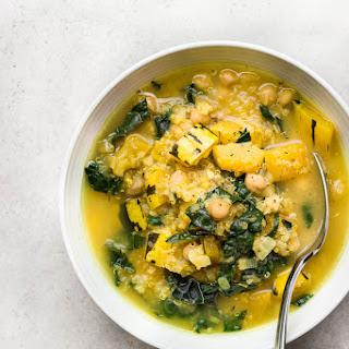 Delicata Squash Stew with Chickpeas + Quinoa.