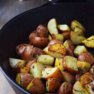 Roasted Red Potatoes with Garlic and Rosemary.
