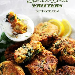 Spinach Lentil Fritters.