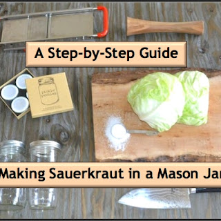 Making Sauerkraut in a Mason Jar