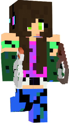 she is the wife of a hacker and a daughterof the enderman