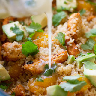 Light Citrus Chicken Quinoa Salad.