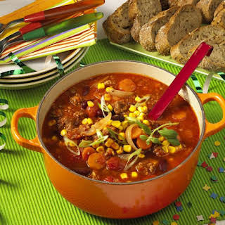 Mexican Beef and Corn Soup.