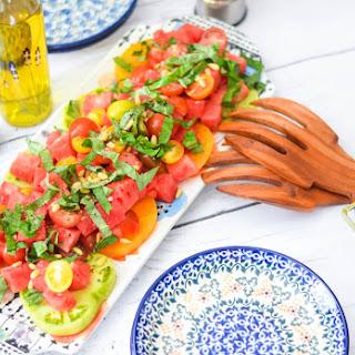 Watermelon Tomato Basil Salad Recipes