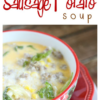 Sausage Potato Soup for the Slow Cooker [AND A CROCKPOT GIVEAWAY].