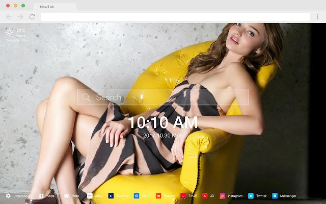 米蘭達·可兒 熱門模特 新標籤頁 高清壁紙 主題