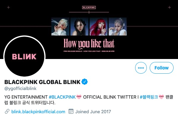 bp blink tweet