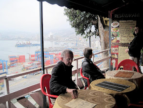 Photo: Day 3- After the pelagic trip, lunch overlooking Valparaiso