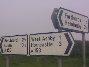 Photo: A strange naming process on the a153 north of Horncastle, or Saxon has evolved somewhat from when Belch, Fart, Lout and Horn were adjectives.
