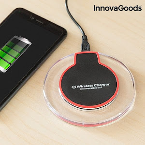 Incarcator wireless Android si IOS, QI Wireless Charger InnovaGoods