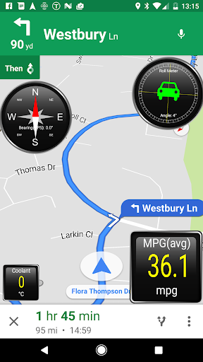 Torque Dashboard Plugin Screenshot