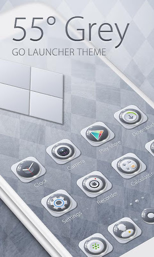 55° Grey GO Launcher Theme