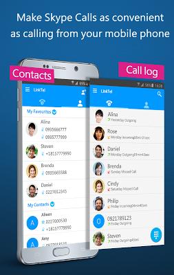 LinkTel – Dialer for SkypeOut - screenshot