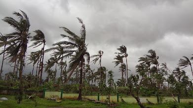 Photo: Typhoon Agaton arrives the same day the SOS team does.