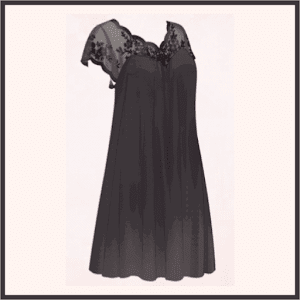 シルクのネグリジェ(黒)