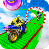 Heavy Bike Impossible Sky Track Stunts