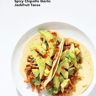 Spicy Chipotle Garlic Jackfruit Tacos