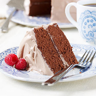 Raspberry-Mocha Cake