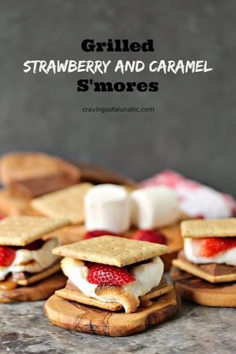 Grilled Strawberry and Caramel Smores