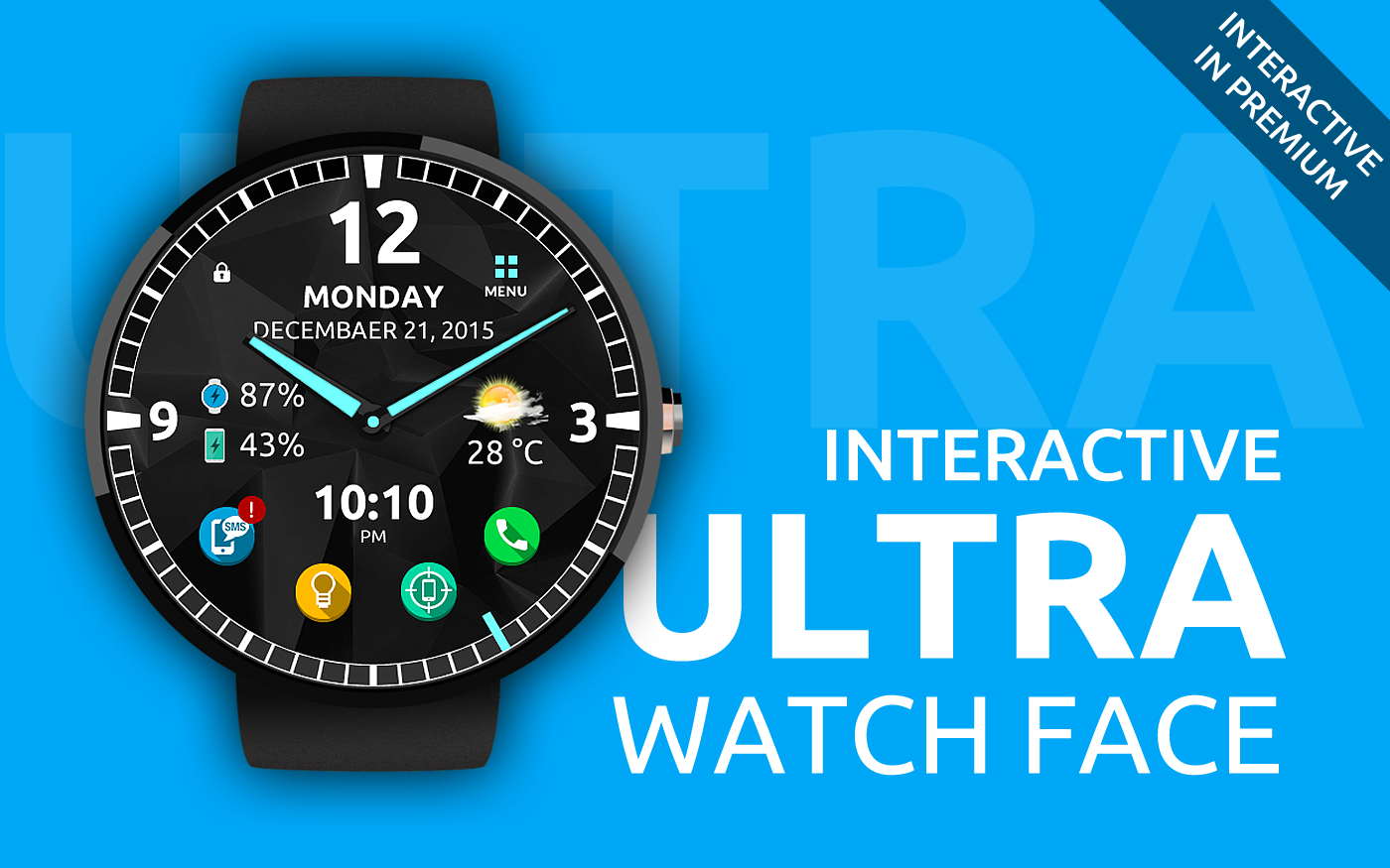 Ultra Watch Face- screenshot