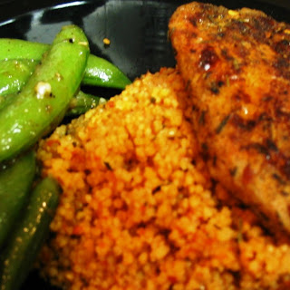 Jerk Chicken with Red Pepper Couscous