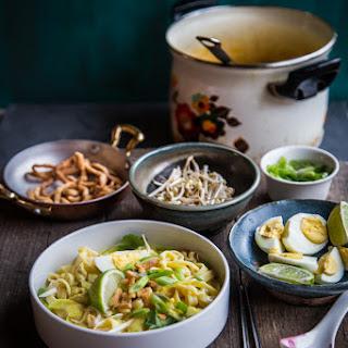 Burmese Coconut Chickpeas Noodle Soup (Ohn-No Khao Soi).
