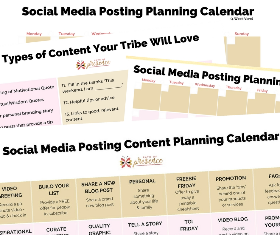 Social Media Content Calendars & 30 Days of Content Ideas