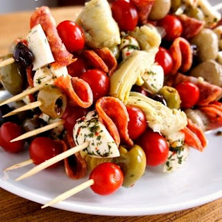 Antipasto Skewers.
