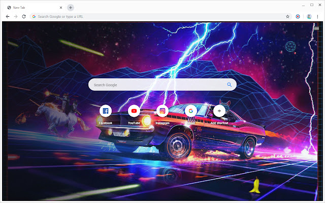 New Tab - Synthwave