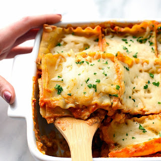 Sweet Potato Spinach Lasagna.