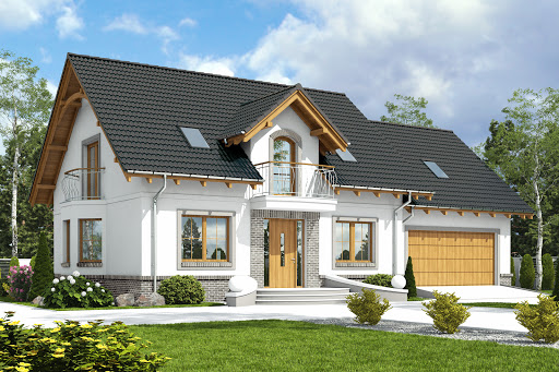 projekt Dom Dla Ciebie 1 w2 z garażem 2-st. A1