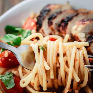 Tomato-Basil Spaghetti with Blackened Chicken